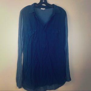 Splendid Lightweight Soft LS Tunic Navy Blue Large